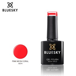 Bluesky A074 PINK NEON CORAL UV/LED Soak Off Gel Nail Polish 10ml