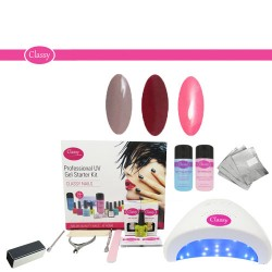 Online Beauty Education Classy 3 Colour Gel Nail Kit