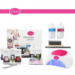 CND Shellac Starter Kit With Classy Nails 48W PRO LED Lamp