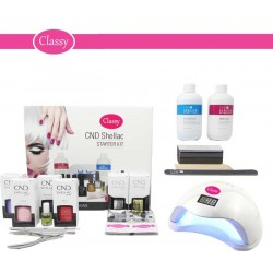 CND Shellac Starter Kit With Classy Nails 48W UV LED Lamp
