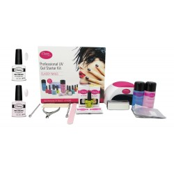 French Manicure Classy Deluxe Nail Kit With Choice of Lamp