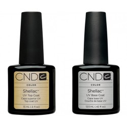 CND Shellac Large Top and Base Coat Set (15ml)