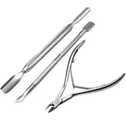 Professional Nail Cuticle Spoon Pusher Clipper Nipper Manicure/Pedicure Kit