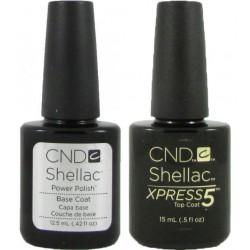 CND Shellac Xpress Top (15ml)and Base Coat Set (12.5ml)