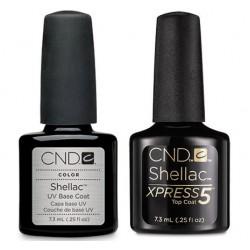 CND Shellac Xpress Top and Base Coat Set (7.3ml)